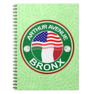 Arthur Ave Bronx Italian American Notepad Spiral Notebook