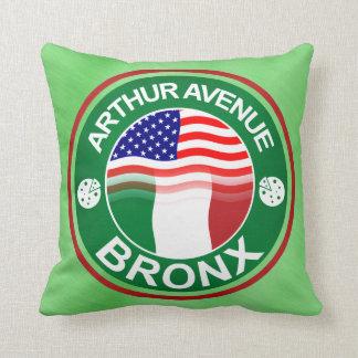 Arthur Ave Bronx Italian American Throw Pillow