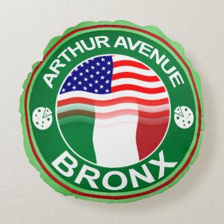Arthur Avenue Bronx Round Pillow, Little Italy Round Pillow