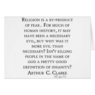 Arthur C Clarke On Religion Card