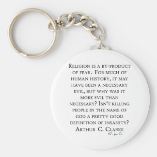 Arthur C Clarke On Religion Keychain