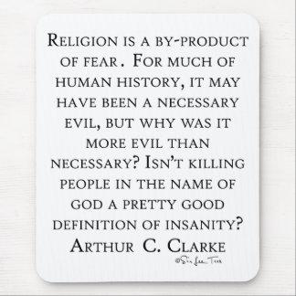 Arthur C Clarke On Religion Mouse Pad