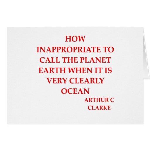 arthur c clarke quote greeting card