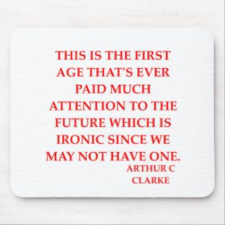 arthur c clarke quote mouse pad