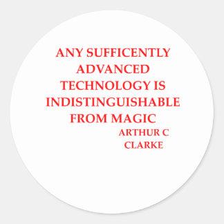 arthur c clarke quote stickers