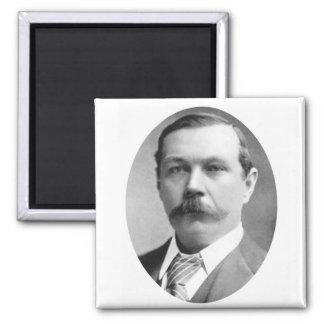 Arthur Conan Doyle Photo 2 Inch Square Magnet