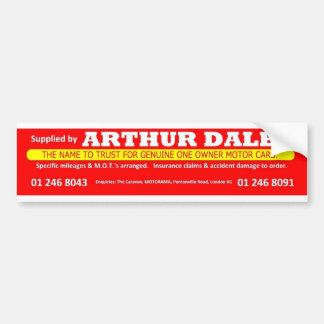 Arthur Daley Motorama Car Bumper Sticker