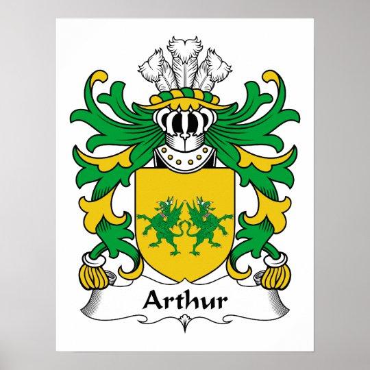 Arthur Family Crest Poster