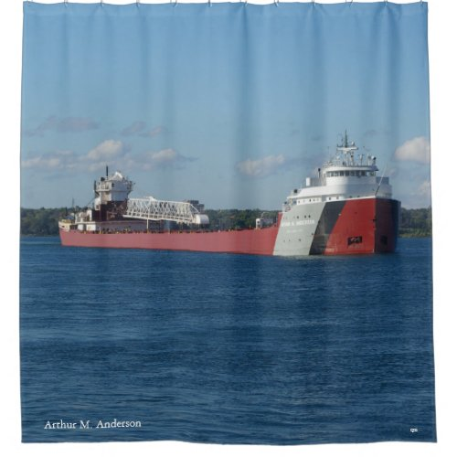 Arthur M Anderson shower curtain