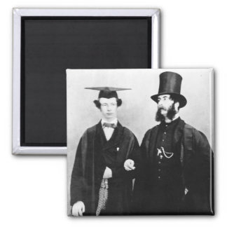 Arthur Munby and his father, c.1851 Fridge Magnets