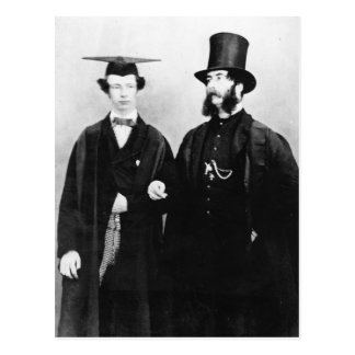Arthur Munby and his father, c.1851 Postcard