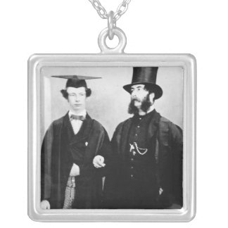 Arthur Munby and his father, c.1851 Silver Plated Necklace