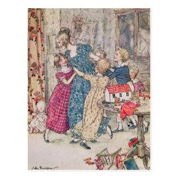 Arthur Rackham   A flushed and boisterous group Postcard
