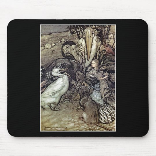 Arthur Rackham Alice In Wonderland Mouse Pad