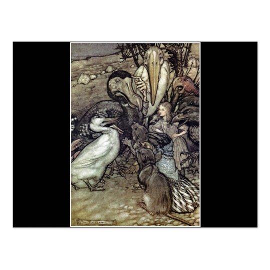Arthur Rackham Alice In Wonderland Postcard