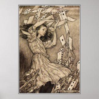 Arthur Rackham Alice In Wonderland Poster