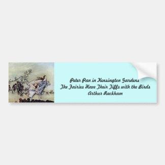 Arthur Rackham book art Peter Pan Fairies Bumper Sticker