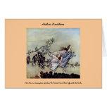 Arthur Rackham book art Peter Pan Fairies Card