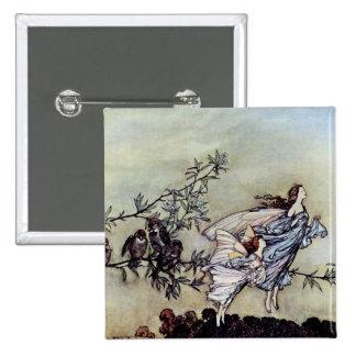 Arthur Rackham book art Peter Pan Fairies Pinback Button