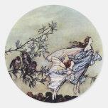 Arthur Rackham book art Peter Pan Fairies Sticker