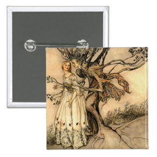 Arthur Rackham - Old Woman in the Wood Button