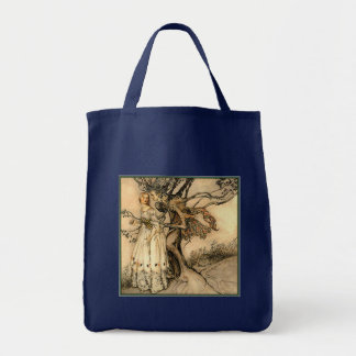 Arthur Rackham - Old Woman in the Wood Grocery Tote Bag