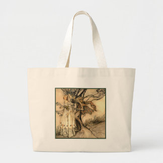 Arthur Rackham - Old Woman in the Wood Jumbo Tote Bag