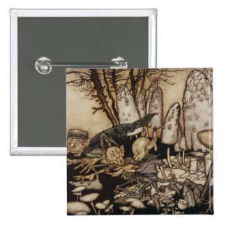 Arthur Rackham | Peter Pan in Kensington Gardens Button