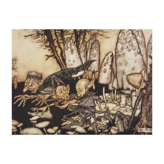 Arthur Rackham | Peter Pan in Kensington Gardens Canvas Print