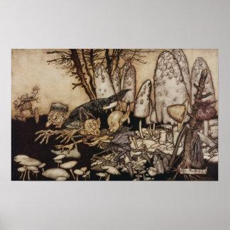 Arthur Rackham | Peter Pan in Kensington Gardens Poster