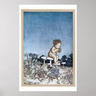 Arthur Rackham - Peter Pan Kensington Gardens 1906 Poster