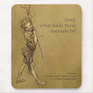Arthur Rackham Puck Lord what fools CC0053 Mouse Pad
