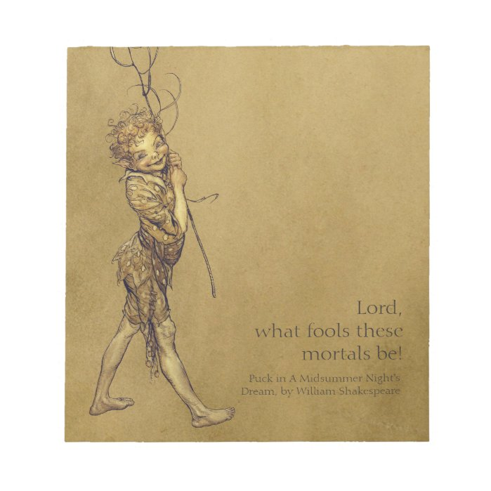 Arthur Rackham Puck Lord what fools CC0721 Notepad