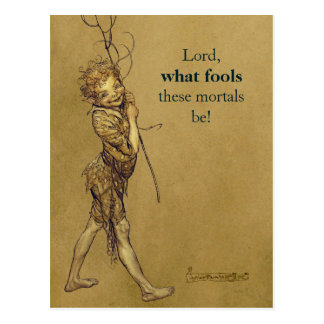 Arthur Rackham Puck Lord what fools CC0776 Postcard