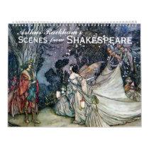 Arthur Rackham's Shakespeare Vintage Art Calendar