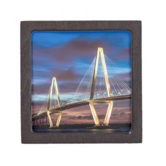 Arthur Ravenal Bridge at Night Keepsake Box
