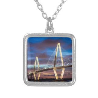Arthur Ravenal Bridge at Night Silver Plated Necklace