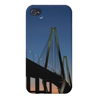 Arthur Ravenel Jr. Bridge at Dusk Cover For iPhone 4
