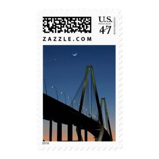 Arthur Ravenel Jr. Bridge at Dusk Postage