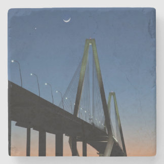 Arthur Ravenel Jr. Bridge at Dusk Stone Coaster