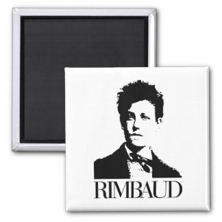 Arthur Rimbaud 2 Inch Square Magnet