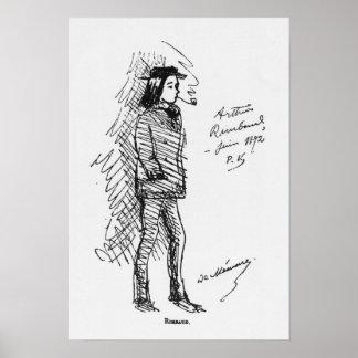 Arthur Rimbaud  June 1872 Poster