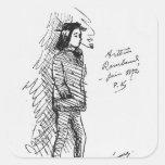Arthur Rimbaud  June 1872 Square Sticker