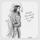 Arthur Rimbaud junio de 1872 Pegatina Cuadradas Personalizada