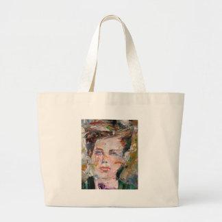 ARTHUR RIMBAUD - oil portrait Large Tote Bag