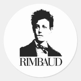 Arthur Rimbaud Pegatinas Redondas