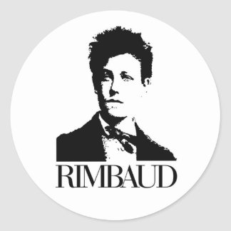 Arthur Rimbaud Pegatina Redonda