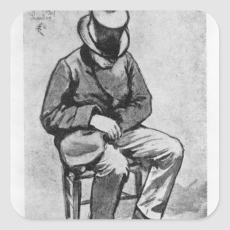 Arthur Rimbaud Square Sticker