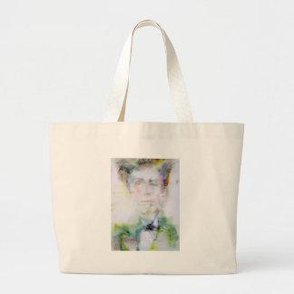 ARTHUR RIMBAUD - watercolor portrait.3 Large Tote Bag