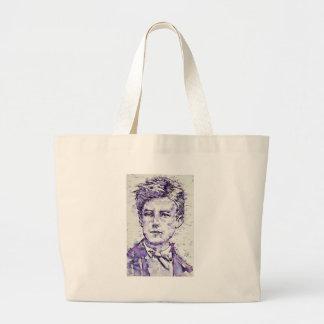 ARTHUR RIMBAUD - watercolor portrait.4 Large Tote Bag
